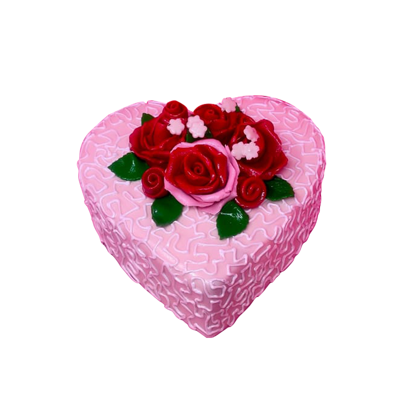 VC 002 Pink Heart Cake